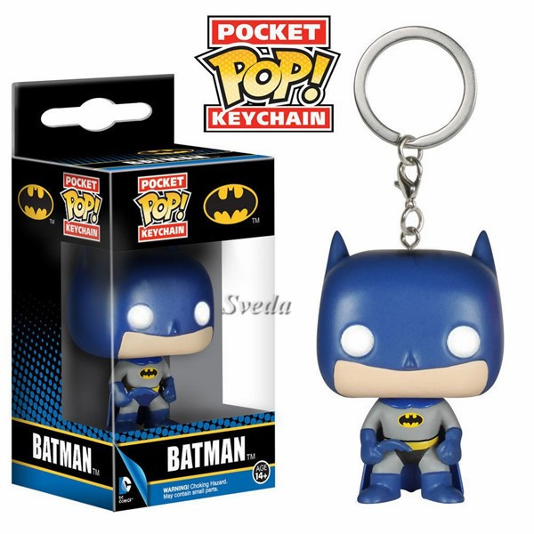 Promotion Gift Batman figure keychain, Batman pocket POP keychain,Batman PVC figures 3D keychain