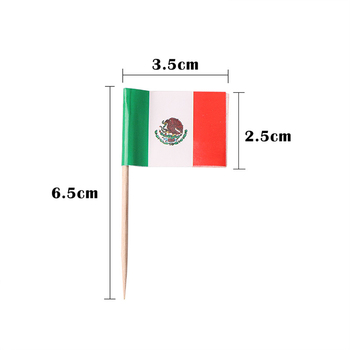Disposable umbrella/flag stock personized toothpick flag