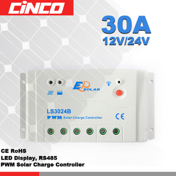 Solar Charge Controller 24V 30A PWM intelligent controller used for solar kit