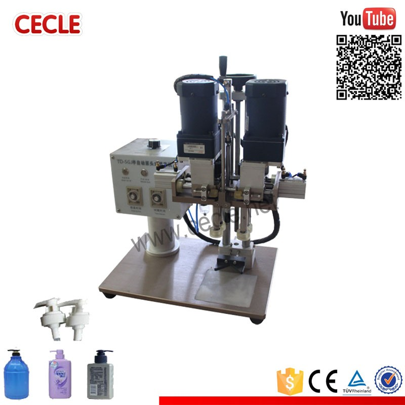 Brand new manufactory manual electric plastic water bottle sealing cap machine
