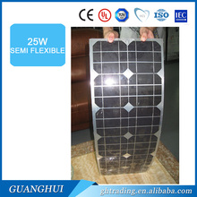 New products 25w 18V mono semi flexible solar panels for car and boat