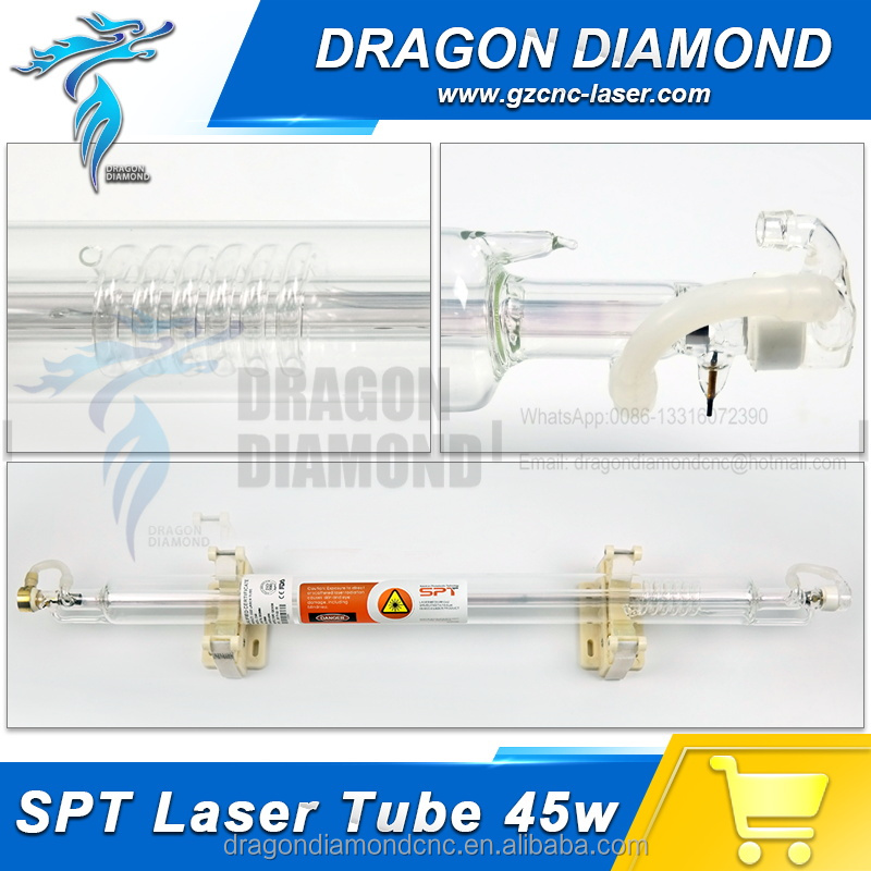 SPT 45w 850mm Co2 Laser Tube For Co2 Laser Engraver Machine Well Package
