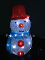 LED Outdoor Acrylic Light Up Christmas Snowman