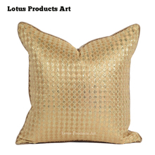 Decoration Collection Decorative Gold Large Square Bed Sequin Pillow Cases
