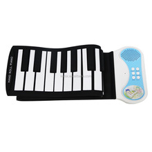 Electronic Music in English Roll up Piano 49keys Educational Kids Computer Piano musical high quality soft keyboard piano price