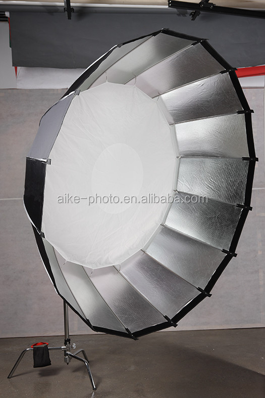 Easy Assembly Large Light Source Diffusers 16K deep parabolic Umbrella Brolly Reflector Softbox with Bowen Mount