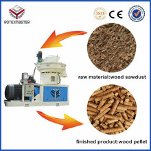 Rotex supply Rubber wood pellet making machine for fuel burning