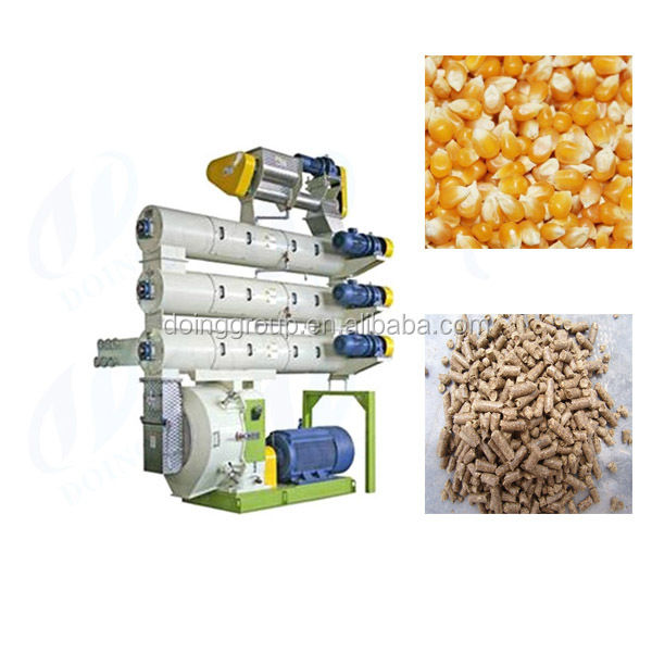 Ring die feed pellet machine friendly enviroment