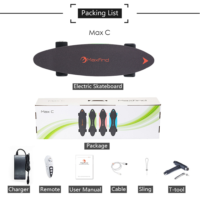AU warehouse shipping Maxfind mini electric skateboard with IP65 waterproof