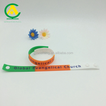 High quality custom adjustable silicone wristband bracelet for event