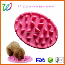 silicone pet dog cat slow eating feeder
