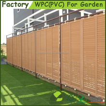 High Quality Easily Assembled Wood Plastic Composite WPC(PVC) Garden Privacy Fence Panels