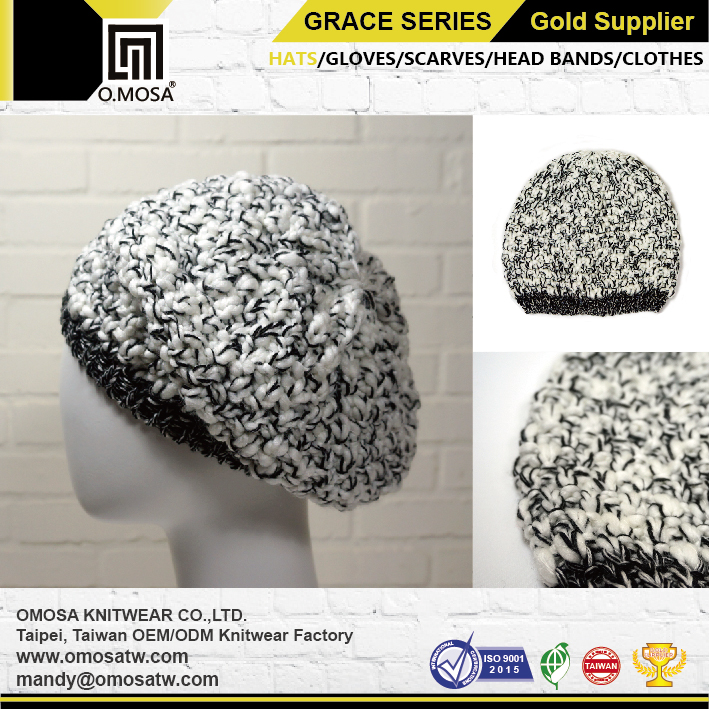 Hats & Caps O.MOSA 2GOM6GHBE39 Mix Color sport knit hat