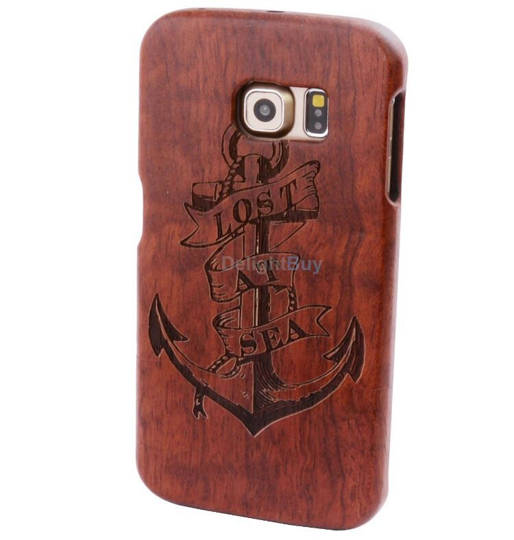 Real Natural bamboo wooden hard Protector shell case cover for Samsung Galaxy S6 wood case
