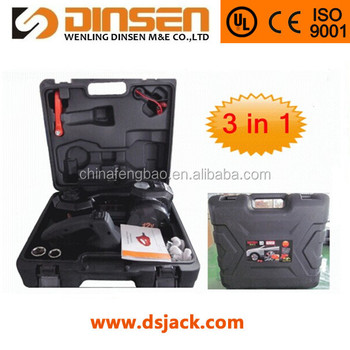 3 ton electric car jack with impact wrench jack set