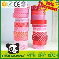 Free Samples rubber based masking colorful high quality washi tape crepe paper