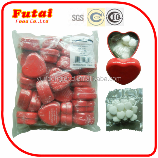 12g Valentines' gift heart shaped mint hard sugar candy