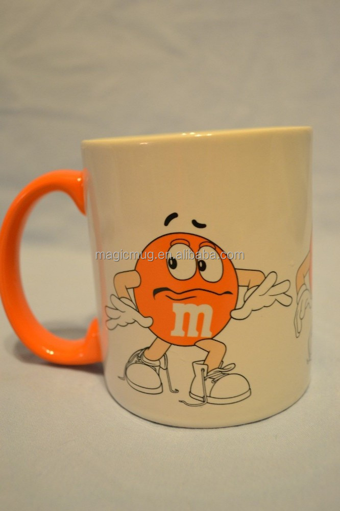M&M's Orange Character Coffee Mug Ceramic Official Licensed Product