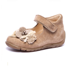 cow suede upper flowers shoe ornaments flat lovely baby baba shoes