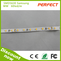 Single row Double PCB SMD 5630 55-60lm/led led strip light 18w/m high power can changedinto waterproof led strip light