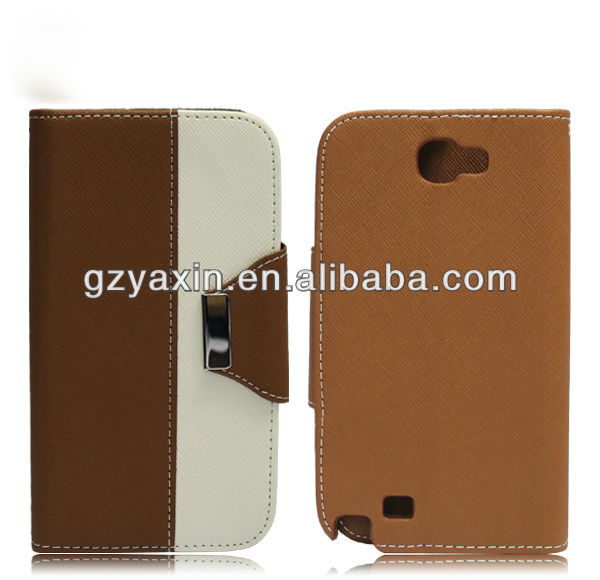 universal smart phone wallet style leather case for samsung note 2,pu leather case for samsung galaxy note2 n7100