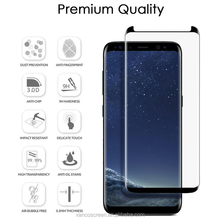 3D Full Cover Glass Full Glue Tempered Glass Screen Protector Guard For Galaxy S8