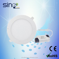 3w 6w 9w 12w 15w 18w ultra thin round led panel lighting
