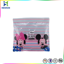 Wholesale price clothes packaging zip lock plastic garment bag with custom design