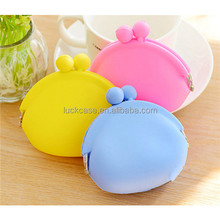 2017 Wholesale Cute Unique Colorful Funny Cheap Mini Silicone Coin Purse / Bag