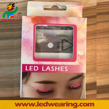 Newest arrive Sound Interactive Flashing Colour Changing LED Eyelashes