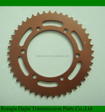 Dajin 1045 steel chain sprocket for motorcycle/motorcycle parts chain sprocket/suzuki ax100 parts