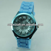 Colorful new popular silicone rubber wristband watch