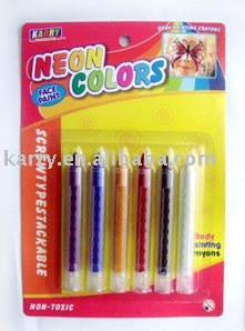 6 neon colors face paint