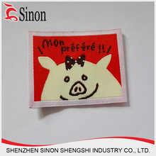 shenzhen supplier polyester fabric woven logo patch