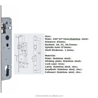 High Security Standard Aluminum Door Lockset