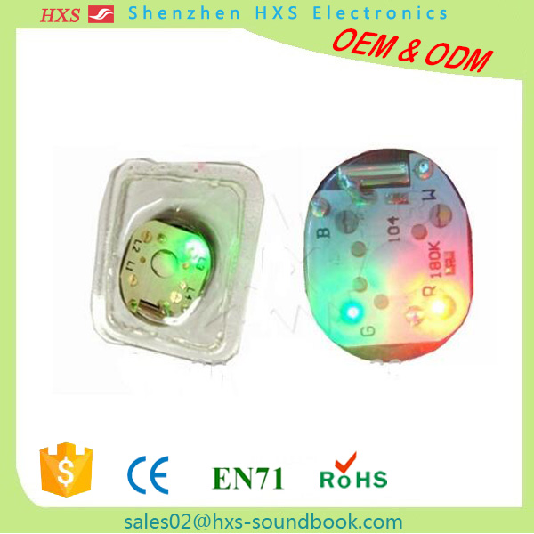 Waterproof pre-record sound chip with different kinds of light for shoes