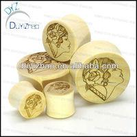 fashion cheap wood plugs tapered wood plugs body jewelry