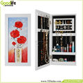 New design wooden wall jewelry cabinet spanish classical furniture