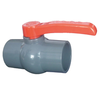 POV 2 way single union upvc ball valve 3 inch manual