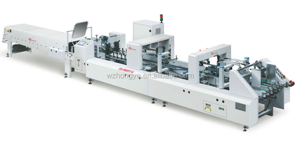 ZH-880PFT-H Automatic Folding Gluing Machine With Pre-fold