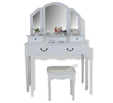 Mirror Vanity Table Furniture with Chairs