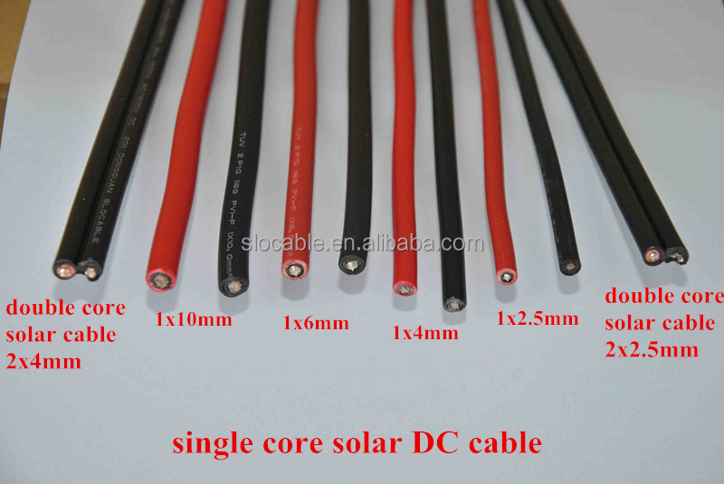 TUV approved UV resistance XLPE double insulation 4mm2 solar cable
