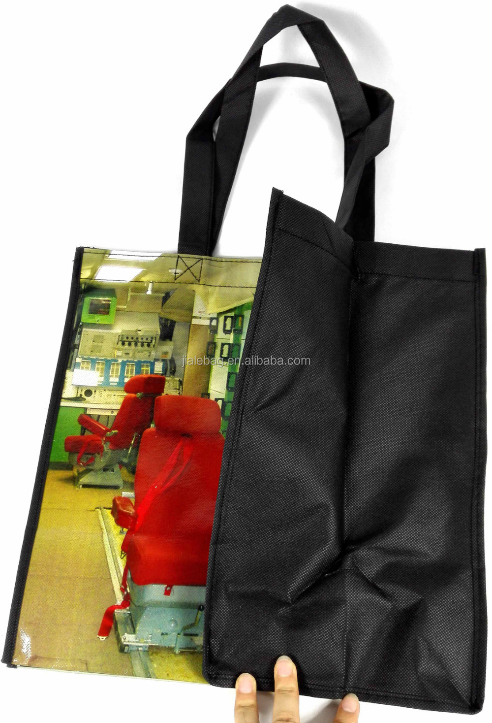 reusable pp non woven grocery tote bags