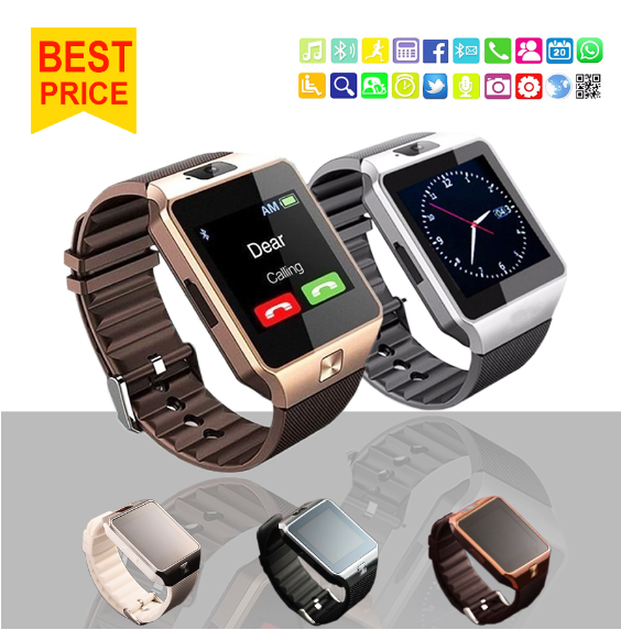 2017 Fashion DZ09 SIM card smart watch phone wholesale smart watch dz09