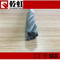 carbon steel material 6x29 steel core diameter 11mm lifting wire rope