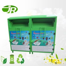 Large Galvanized Steel Clothing Donation Bin with Customized Color.