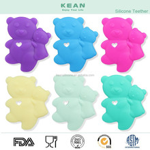 Top Sale Funny Bear Shape Baby Teether BPA Free Silicone Teether