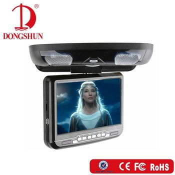 DS-998 9 inch car roof dvd monitor flip down HD digital display