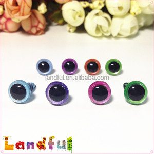 12mm Metallic Colored Sparkle Eyes Handmade Toys Plastic Animal Eyes