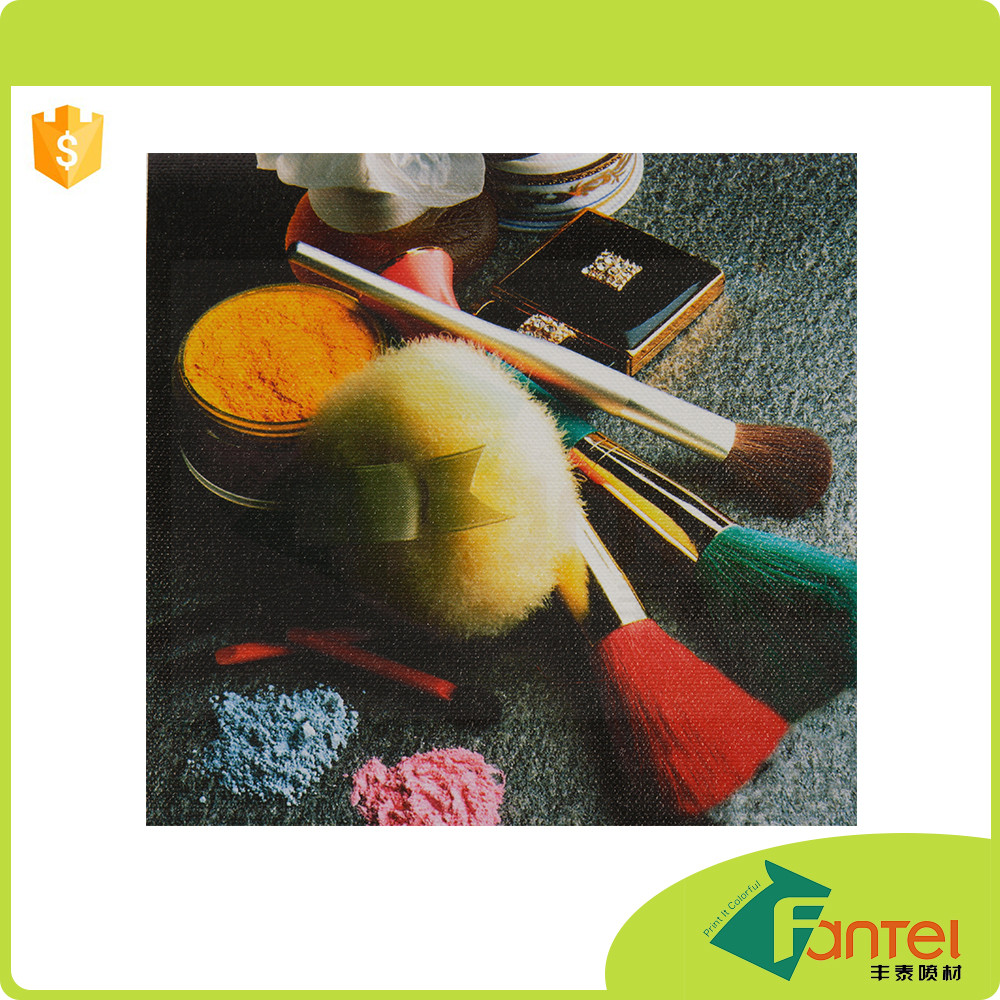 220gsm glossy polyester canvas oil painting of cotton swiss dot print fabric